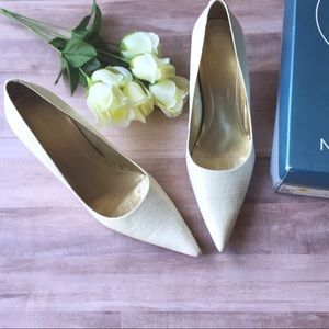 👠NEW  Nine West Hendleo white heels. 👠